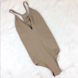 Free People Intimately Ribbed Bodysuit Size XS/S